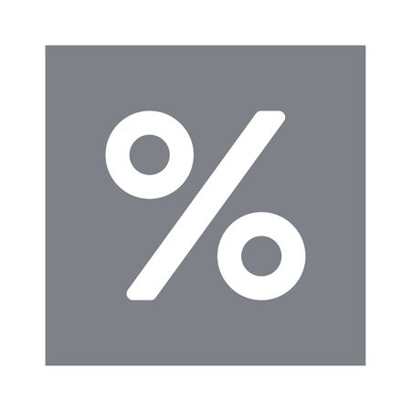 Discount percentage icon sign symbol on white background