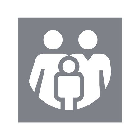 Family Icon in trendy flat style isolated on grey background. Parents symbol for your web site design, logo, app, UI. Vector illustration, EPS10.