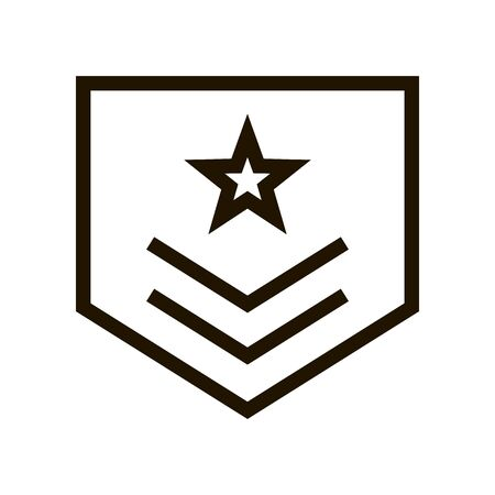 military rank badge icon in trendy flat style Illusztráció
