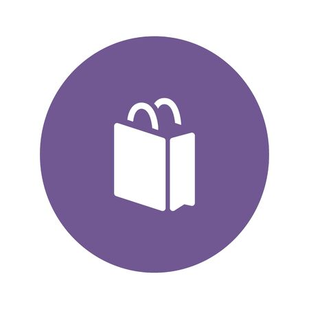 Shopping bag icon suitable for info graphics, websites and print media. Colorful vector, flat icon, clip art. Stock Vector - 134891436