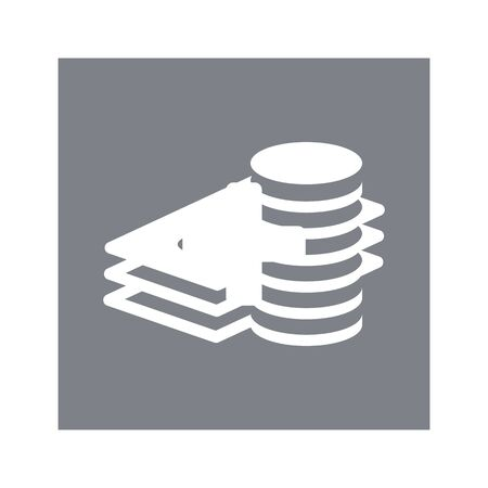 Cash Icon in trendy flat style isolated on grey background. Money symbol for your web site design, logo, app, UI. Vector illustration.