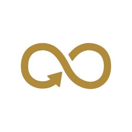 Icône de signe illimité. Symbole de l'infini isolé sur fond blanc Vecteurs