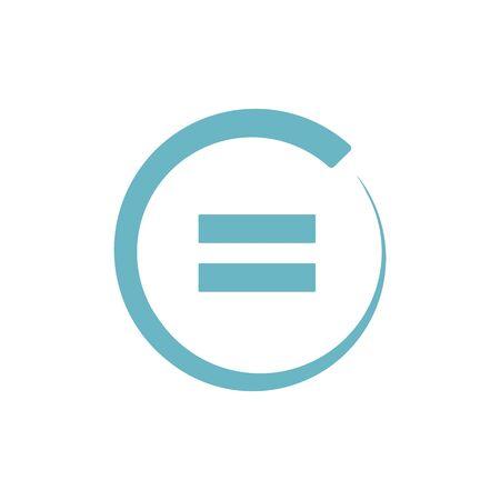signo igual. estilo plano. Ilustración de icono igual aislado sobre fondo blanco. igual icono para diseño gráfico, sitio web, interfaz de usuario. icono de glifo de símbolos matemáticos. Ilustración de vector