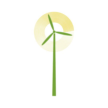 Windmill icon isolated sign symbol and flat style for app, web and digital design. Vector illustration.