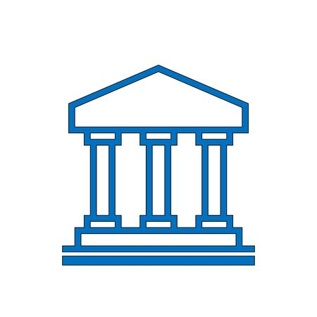 Vector illustration of architectural element - Portico, an ancient temple Illustration