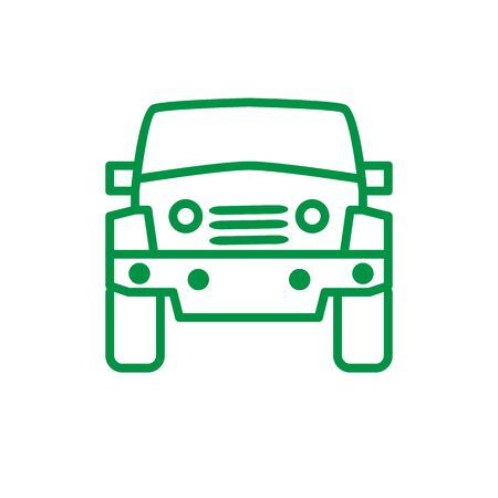 Green car isolated. Vector illustration of a green car.