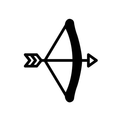 Arrow and bow Icon Vector Illustration on the white background.
