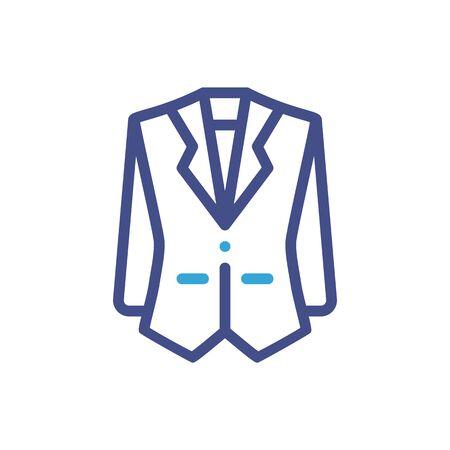 Men blazer or jacket symbol simple silhouette icon on background