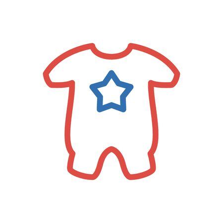 vector baby clothes illustration isolated - baby child wear icon Illustration