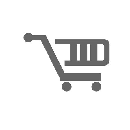 shopping cart simple vector icon illustration on white background