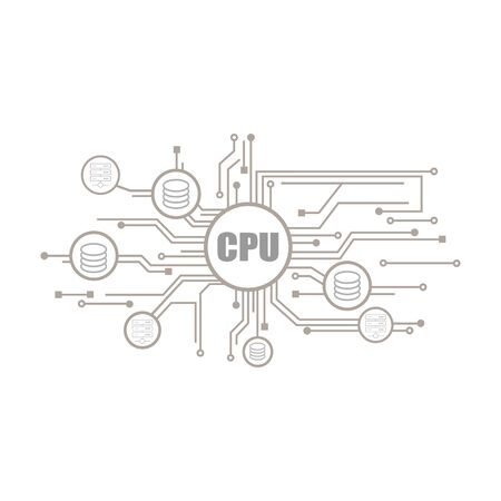 flat Vector icon - illustration of computer network icon isolated on white