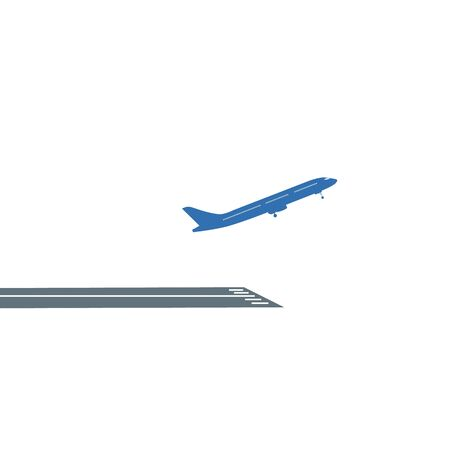 Airline airplane or jetliner flight take off flat vector icon for apps and websites Illustration