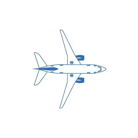 Vector illustration. Plane, airplane. Flat background. Travel and tourism. Illustration