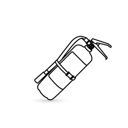 Fire extinguisher line icon, outline vector sign, linear style pictogram isolated on white. Symbol, logo illustration. Editable stroke. Pixel perfect