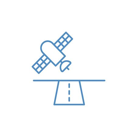Satellite solid icon, navigation and communication, vector graphics, a filled pattern on a white background
