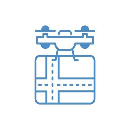 Drone aerial camera icon graphic design logo illustration