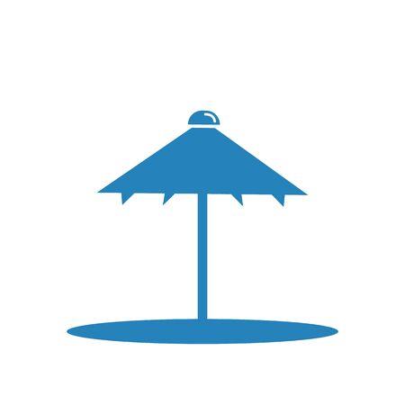 Beach umbrella isolated on white background, illustration.