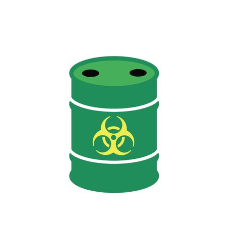 Barrel of toxic waste. Toxic waste vector illustration