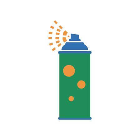 Green Aerosol Spray Metal 3D Bottle Can: Paint, Graffiti, Deodorant Illustration