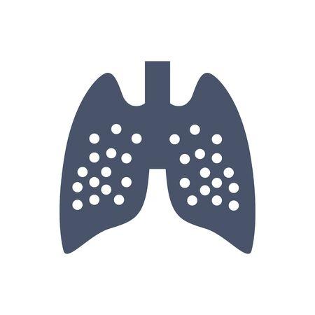 lung icon, Vector illustration. organ icon vector