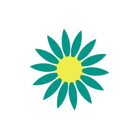 symbol of green flower. vector design element.