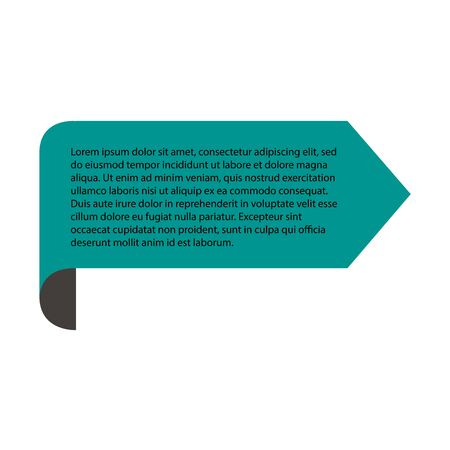 Quote text on green background. Vector illustration. Illustration