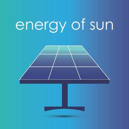 solar panel thin line icon. flat design vector concept illustration for environmental business