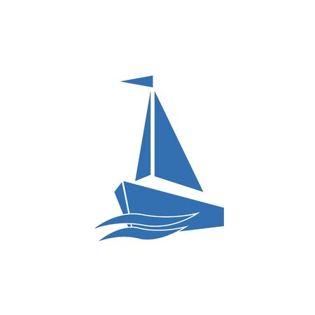 Yacht Icon, the silhouette of the vector