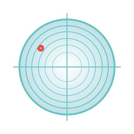 radar, résumé, icône, symbole, vecteur, illustration, blanc, fond