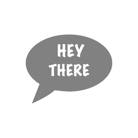 Hello, Hey there, Welcome quote bubbles. Simple cute greeting messages signs. Hand drawn chalkboard design. Hello idea baloons collection set. Clean line styled elements. Vector illustration.