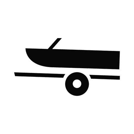 Motor Boat Marina Icon on white background Illustration