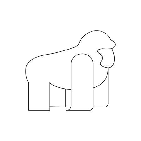 Gorilla vector isolated flat illustration. Gorilla icon