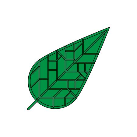 Eco icon green leaf vector illustration isolated Ilustração