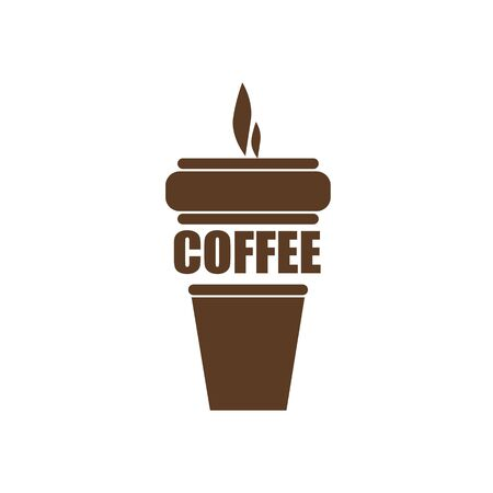 Vector illustration. Hand drawn doodle of disposable paper cup with coffee or tea. Cartoon sketch. Decoration for menus, signboards, showcases, greeting cards, posters, wallpapers Illustration