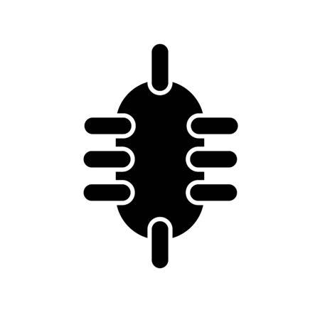 bacteria icon illustration isolated vector sign symbol Illustration