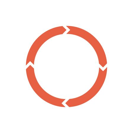 Circle arrows for infographic. Simple flat 360 diagram icon. Illustration