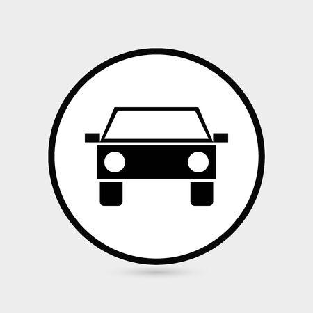 Car icon.car icon vector on gray background. Vector illustration Illustration