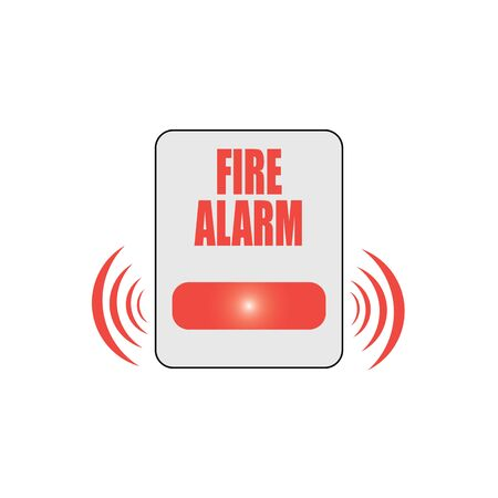 Fire button vector flat material design isolated on white