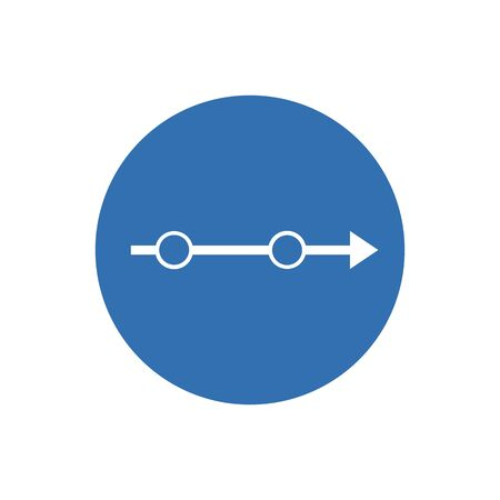 Arrow Right vector rounded icon. Image style is a flat icon symbol inside a circle