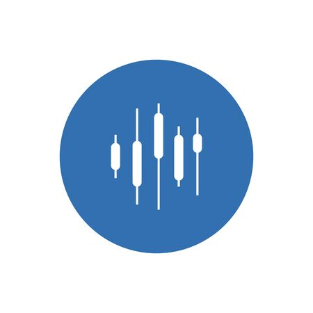Business candle stick graph chart of stock market investment trading on blue background design Illustration