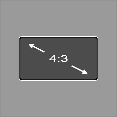 Vector icon monitor sizes 4:3. TV screen lcd monitor template electronic device technology. isolated on white background. Illustration