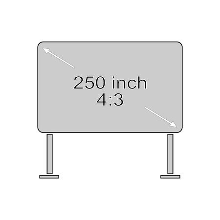 4 to 3 monitor on white background. Modern screen. Template with code and size text message. Illustration