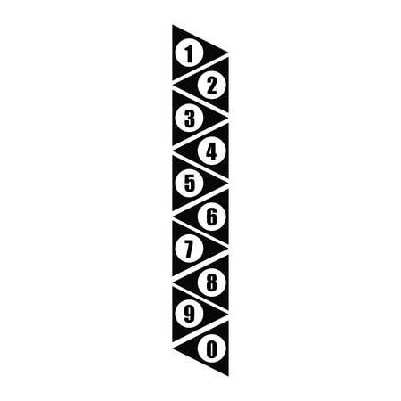 Vector 3d Numbered Text Boxes Stacked 1 to 10