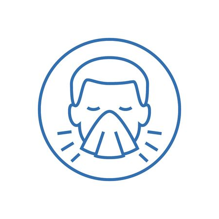 Man face with mask icon vector in trendy flat style isolated on white background