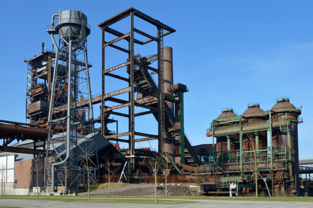 steelworks: Old industrial, steelworks in Germany