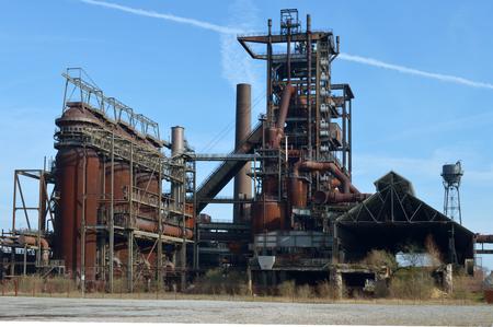 steel works: Old industrial, Phoenix steelworks in Dortmund, Germany