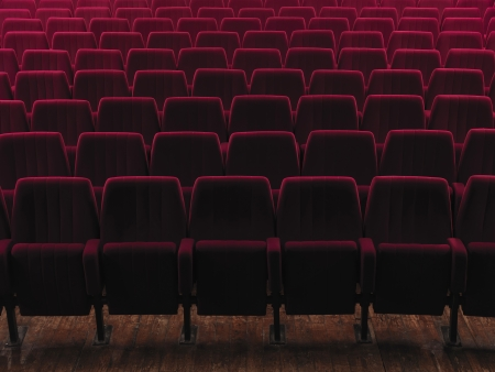 cushioned: empty cinema seats