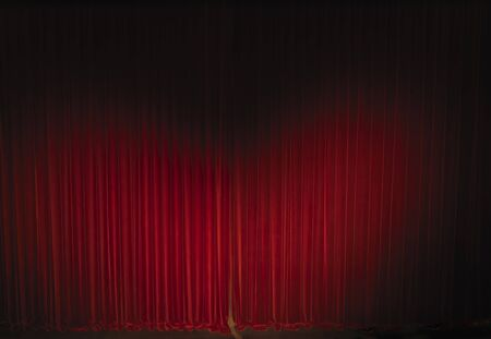 waved velvet theater curtain photo