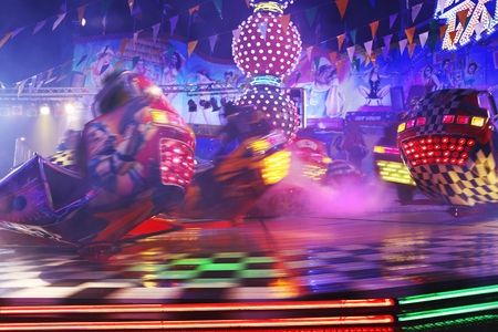 parish: parish fair carousel by night