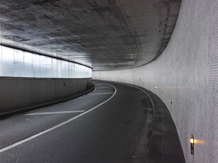urban tunnel in paris photo